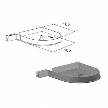 Крышка боковая RK165D круглая