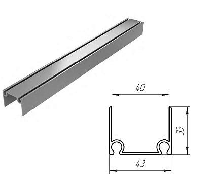 Верхний и нижний алюминиевый профиль