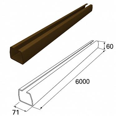 Балка прокатная 71х60 L=5470 RAL80176