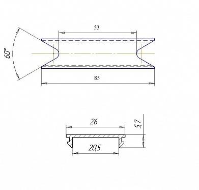 Проставка алюминиевая для решетчатого щита 91,5 мм