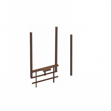 Рама стандартная ОЯС (основание, якорь, столбы) под бетонирование. Ширина проема 3000-5000 RAL8017